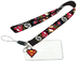 comics superman logo lanyard