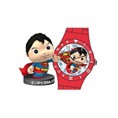 Harley Superman Whak Watch And Figurine