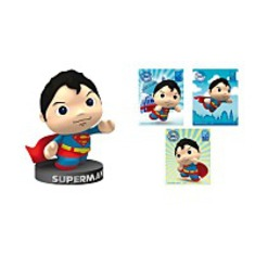 Superman Figurine And Puff Sticker