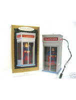 Superman Phonebooth Magic Motion Ornament