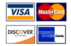 We Accept All Major Bank cards and PayPal